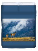 Guanaco Mother And Child Duvet Cover