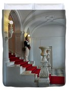 Guard At Catherine Palace In Russia Duvet Cover