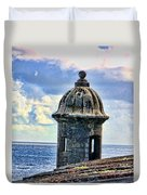 Guard Tower At El Morro Duvet Cover