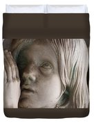 Guardian Angel With Praying Hands Duvet Cover