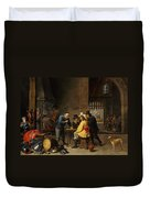 Guardroom With The Deliverance Of Saint Peter Duvet Cover