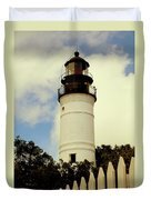 Guiding Light Of Key West Duvet Cover
