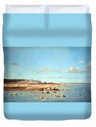 Guigou's Washerwomen On The Banks Of The Durance Duvet Cover