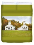 Guildhall Village Historic District In Autumn Vermont Duvet Cover