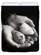 Guillemot Eggs Black And White Duvet Cover