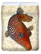 Guinea Fowl Puffer Fish Duvet Cover