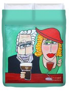 Guinness Man With The Woman Of His Dreams Duvet Cover