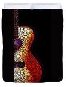Guitar Art - She Waits Duvet Cover