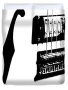 Guitar Graphic In Black And White  Duvet Cover
