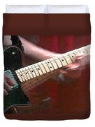 Guitar In Action Duvet Cover