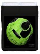 Guitar Keylime Baseball Square  Duvet Cover