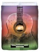 Guitar Nature  Duvet Cover