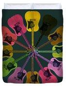 Guitar O Clock Duvet Cover