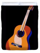 Guitar Of Colors Duvet Cover