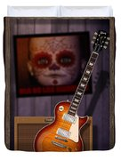 Guitar Scene Duvet Cover