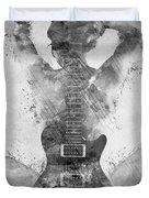 Guitar Siren In Black And White Duvet Cover