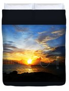 Guitar Sunset - Guitars By Sharon Cummings Duvet Cover