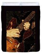 Guitar Tinted Copper Duvet Cover