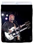 Guitarist Don Felder Duvet Cover