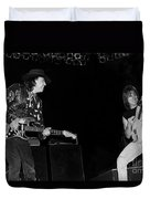 Guitarists Stevie Ray Vaughan W Jeff Beck Duvet Cover