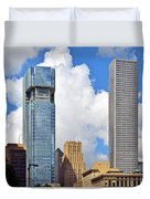 Gulf Building Houston Texas Duvet Cover