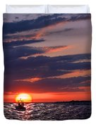Gulf Coast Sunset Duvet Cover
