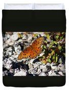 Gulf Fritillary Butterfly - Agraulis Vanillae Duvet Cover