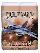 Gulf War Veteran F-14 Tomcat  Duvet Cover