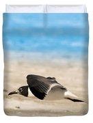 Gull At Lido Beach Iv Duvet Cover