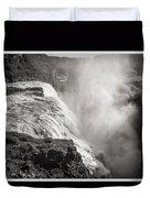 Gullfoss Iceland In Black And White Duvet Cover