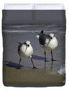Gulls On The Beach Duvet Cover