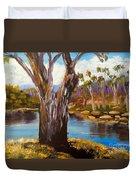 Gum Trees Of The Snowy River Duvet Cover