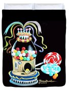 Gumball Machine And The Lollipops Duvet Cover
