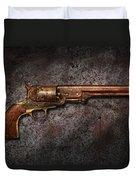 Gun - Colt Model 1851 - 36 Caliber Revolver Duvet Cover