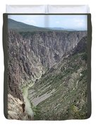 Gunnison River At The Base Of Black Canyon Of The Gunnison Duvet Cover