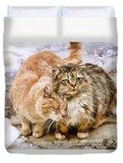 Gutter Kitties Five Duvet Cover