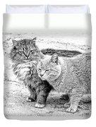 Gutter Kitties Four Duvet Cover