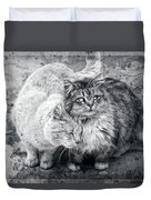 Gutter Kitties Nine Duvet Cover