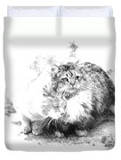 Gutter Kitties Six Duvet Cover