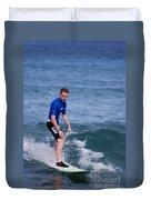 Guy Surfing Duvet Cover
