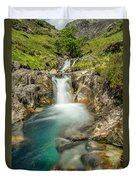 Gwynant Waterfall Duvet Cover