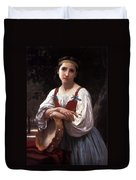 Gypsy Girl With A Basque Drum Duvet Cover