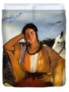 Gypsy With A Cigarette Duvet Cover