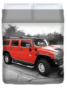 Red Hummer H2 Series  Duvet Cover