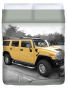 Hummer H2 Series Yellow Duvet Cover