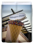 Haagen Dazs Ice Cream Signage Downtown Disneyland 01 Duvet Cover