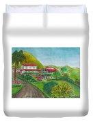 Hacienda Gripinas Old Coffee Plantation Duvet Cover