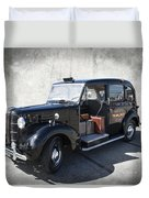 Hackney Carriage Austin Fx3 Of London C. 1955 Duvet Cover