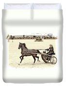 Hackney Pony Cart Duvet Cover