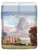 Hadlow Stand Of Oasts Duvet Cover